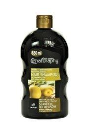 Rewitalizujący i nadający połysk szampon do włosów suchych i normalnych z wyciągiem z oliwek 650 ml